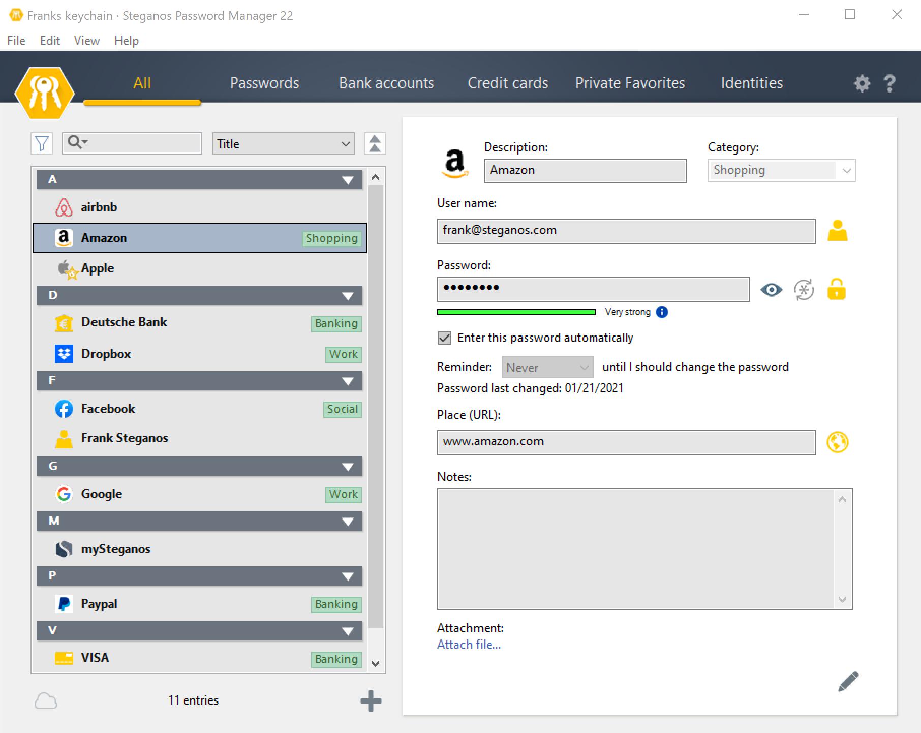 Steganos Privacy Suite screenshot